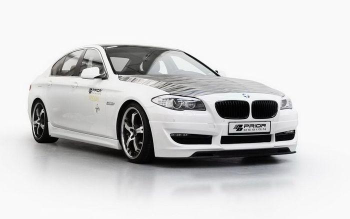 BMW 5 F10 получила скромный тюнинг-пакет от ателье Prior Design (6 фото)