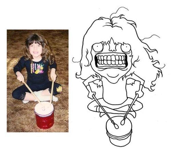 Художник-карикатурист рисует портреты интернет-юзеров (7 фото)