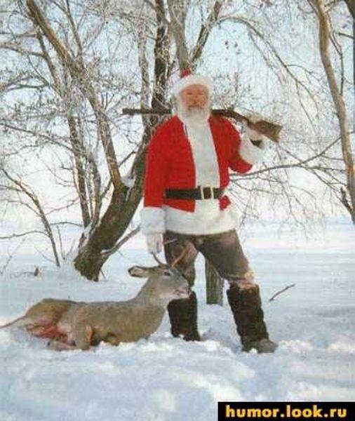 Картинка для охотника с новым годом