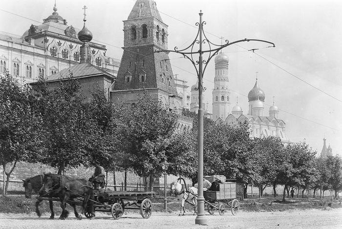 старая москва, москва, столица, архивные фото, ч/б