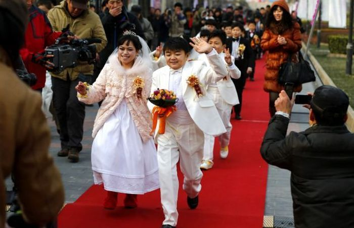 свадьба, китай, лилипут