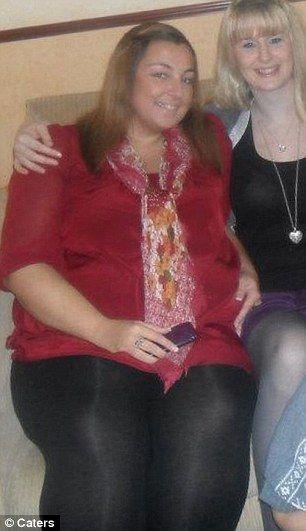 Она смогла похудеть (4 фото)