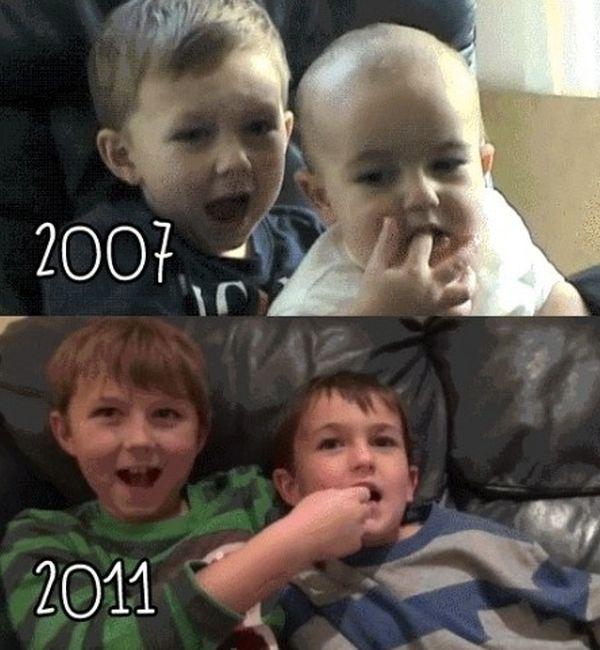 Смешная фотогалерея дети, тогда и сейчас