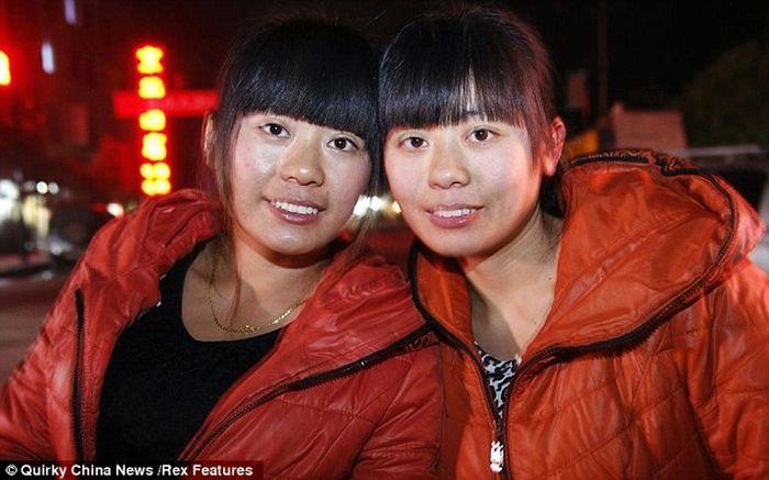 китаянка, двойник, близнецы, сестры