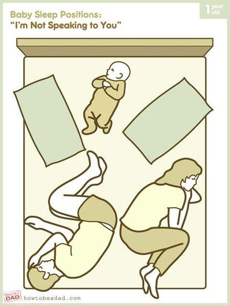 поза, сон, младенец, ребенок, малыш