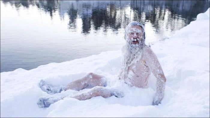 Фанни фото в снегу, закалка, зима, сугроб