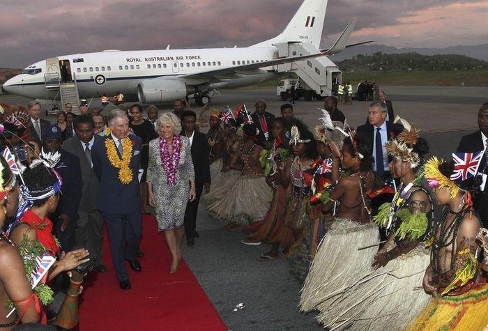аборигены, папуа, новая гвинея, визит, гости, принц чарльз