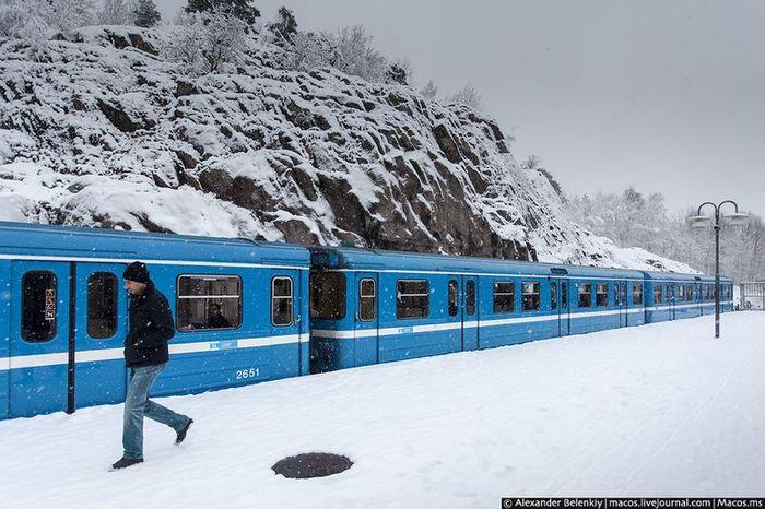 стокгольм, шведское метро, метрополитен, подземка