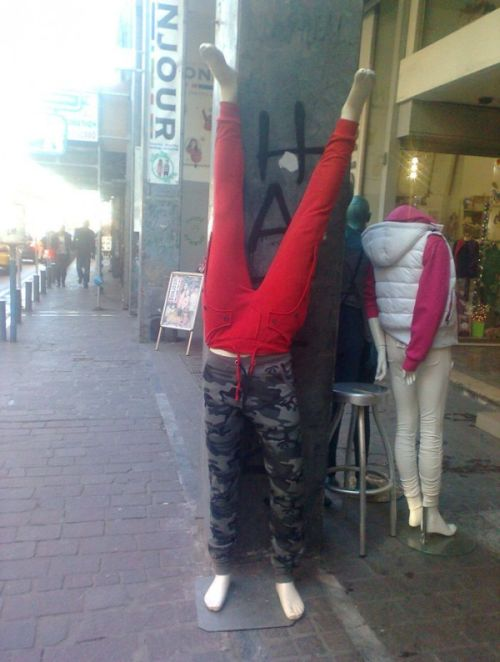 Фотоприкол дня манекен, на улице, одежда, прикол, юмор