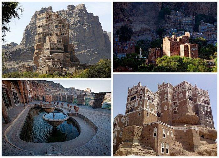 дворец, достопримечательность, строение, йемен, скалы