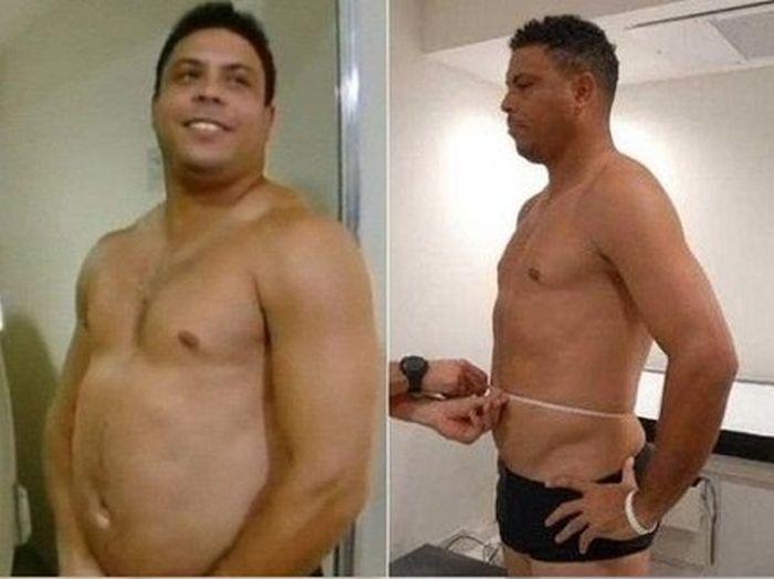 роналдо, рональдо, футболист, футбол, спорт, толстый, похудел, диета