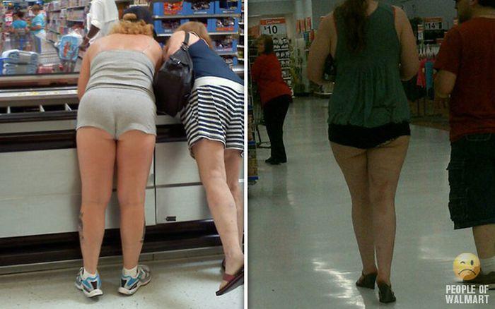Gente rara en el supermercado Walmart-003