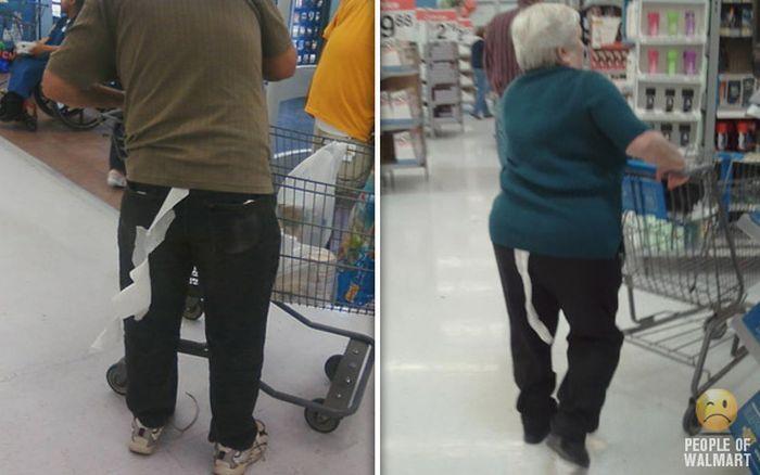 Gente rara en el supermercado Walmart-004