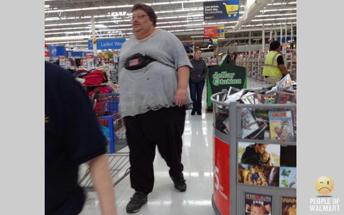 Gente rara en el supermercado Walmart-006