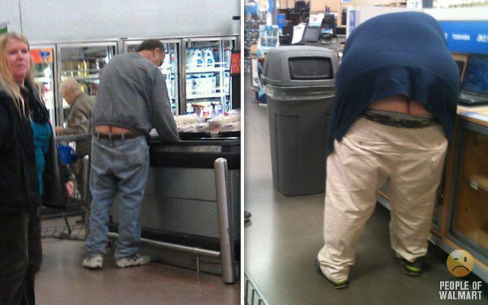 Gente rara en el supermercado Walmart-012