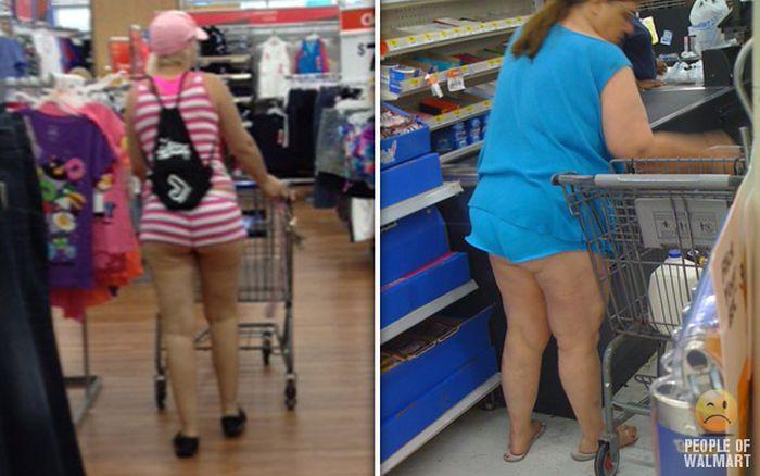 Gente rara en el supermercado Walmart-018