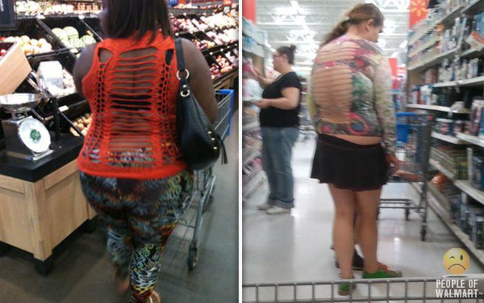 Gente rara en el supermercado Walmart-024