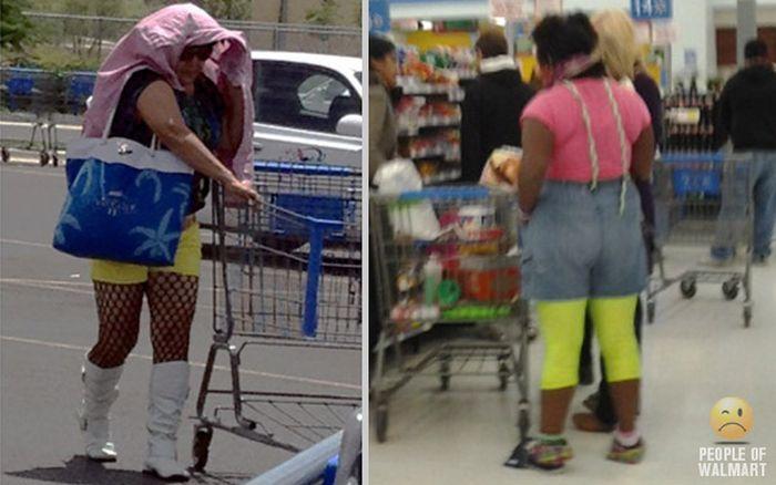 Gente rara en el supermercado Walmart-030