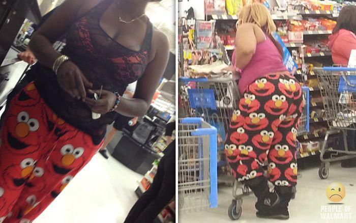 Gente rara en el supermercado Walmart-034