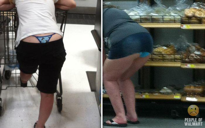 Gente rara en el supermercado Walmart-035