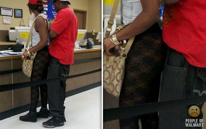 Gente rara en el supermercado Walmart-037
