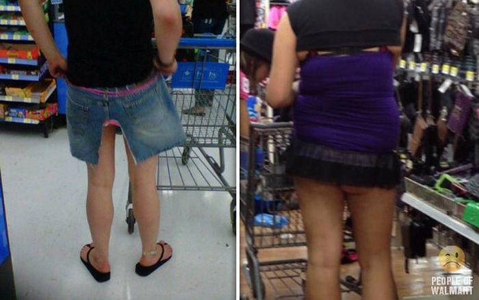 Gente rara en el supermercado Walmart-044