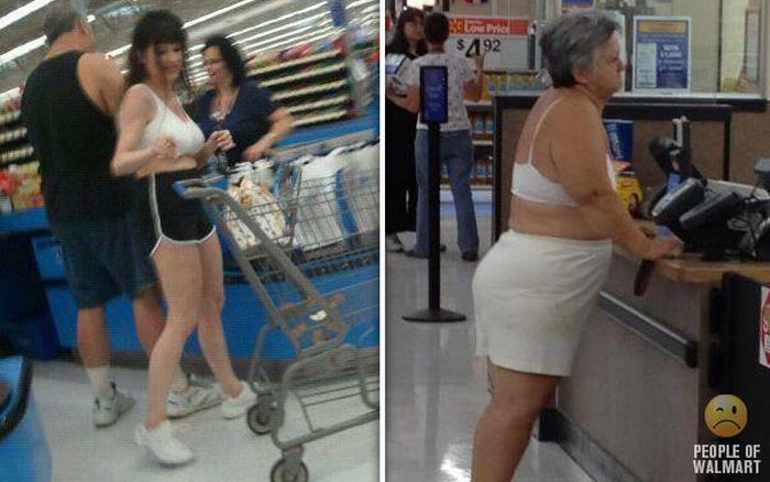 Gente rara en el supermercado Walmart-050