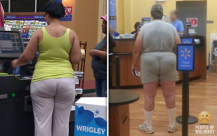 Gente rara en el supermercado Walmart-057