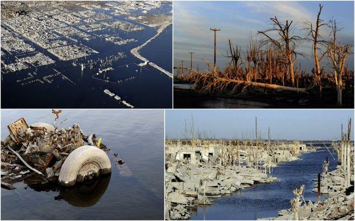 вилла, потоп, затоплено, наводнение