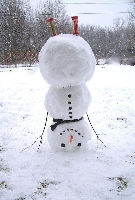 Бесплатный фотоприкол вверх дном, на голове, прикол, прикольная фотографи, снеговик