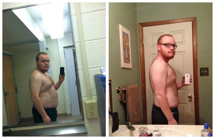 Фотоприкол дня до и после, молодец, похудел, прошлое и настоящее