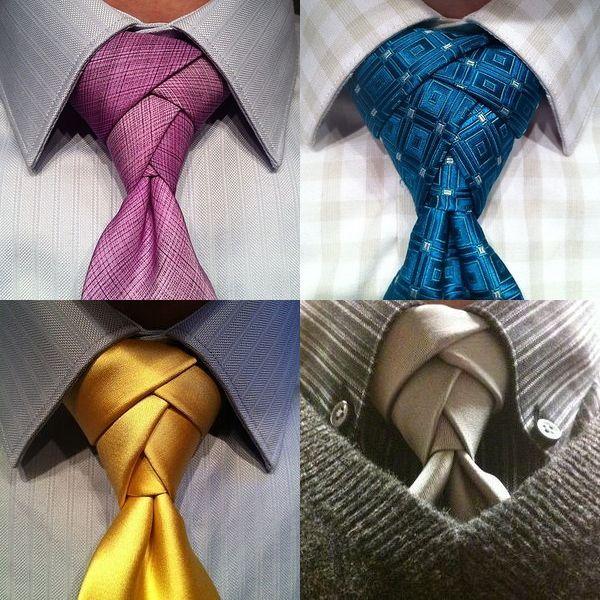 галстук, узел троицы, узел элдридж
