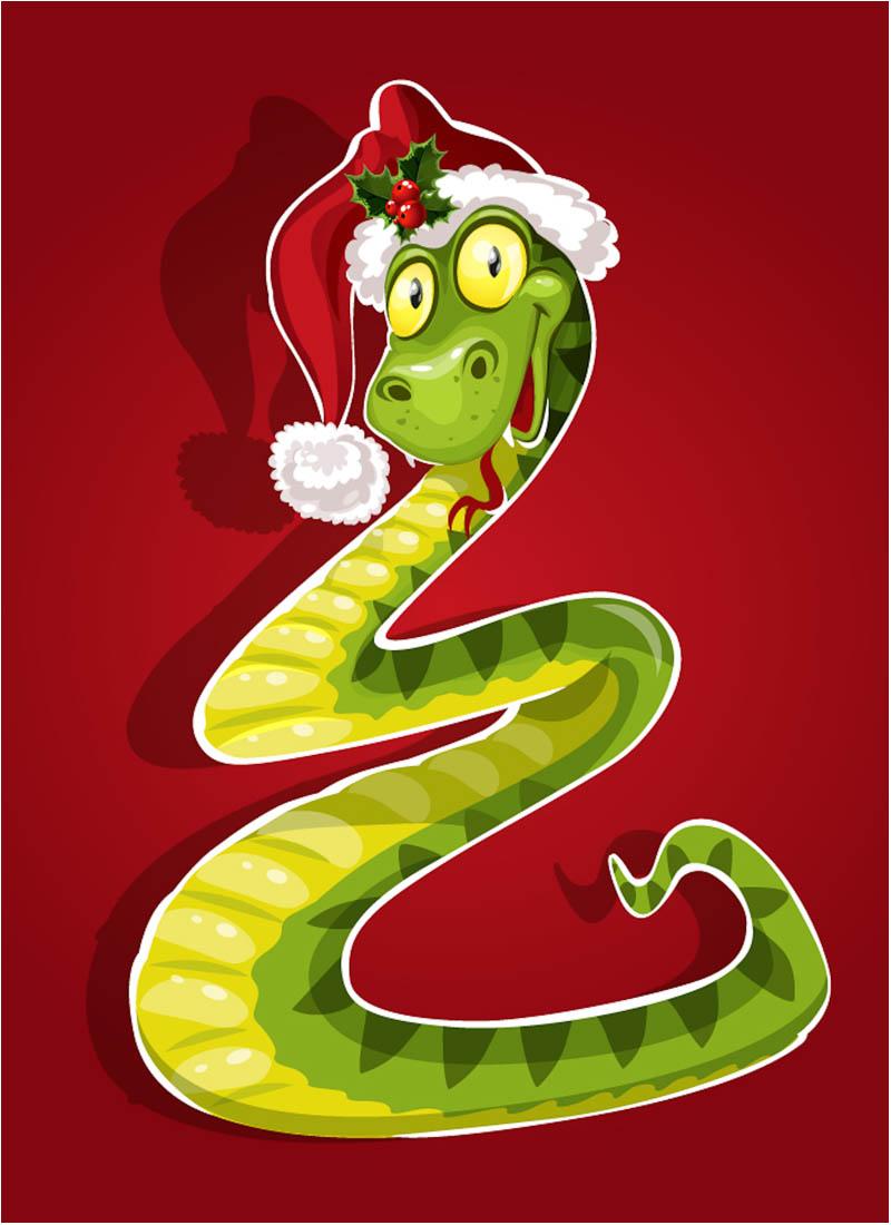 Змея поздравительные открытки