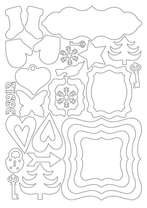 Заготовки для новогодней открытки своими руками, малыша