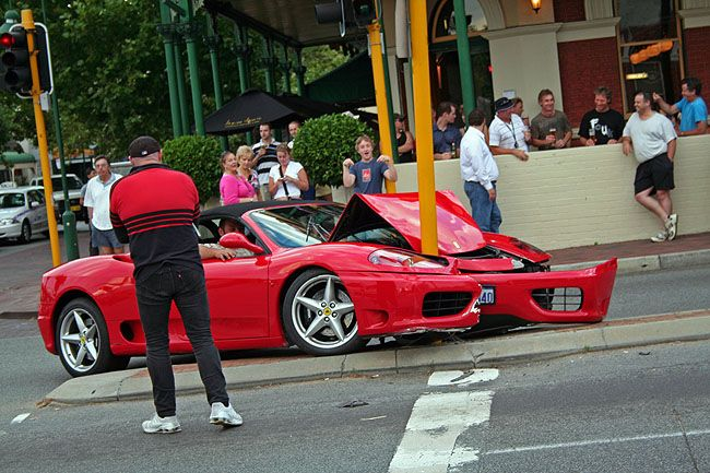 Ferrari car accident