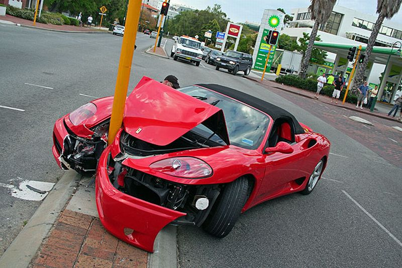 Ferrari car crash