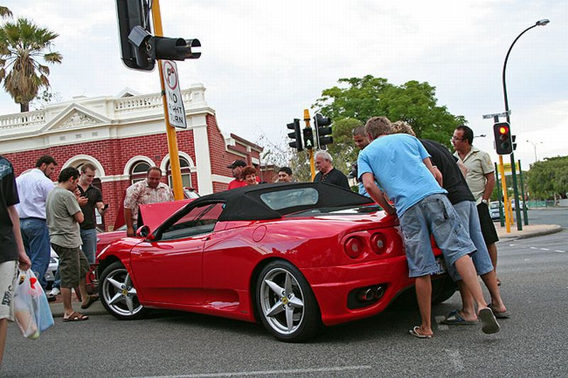 Ferrari traffic accident